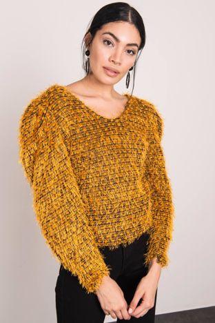 Musztardowy sweter BSL