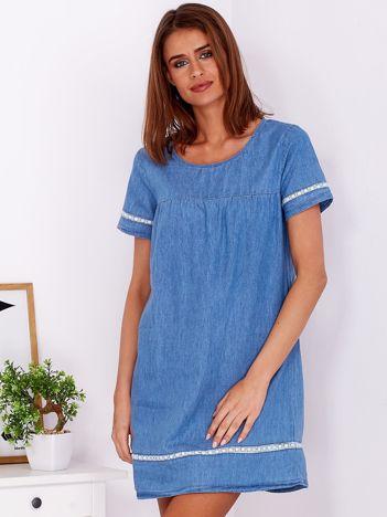 Niebieska bawełniana sukienka z denimu