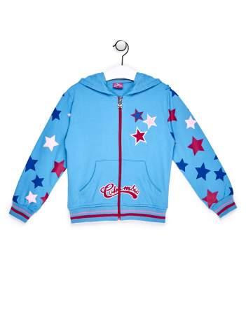 Niebieska bluza dla dziewczynki w gwiazdki