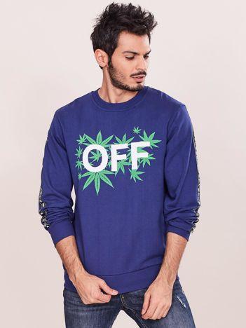 Niebieska bluza dla mężczyzny z nadrukiem