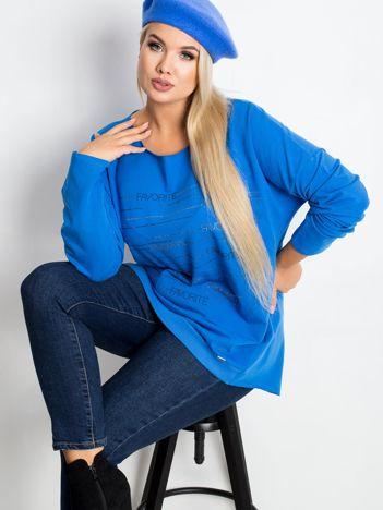 Niebieska bluzka plus size Shay