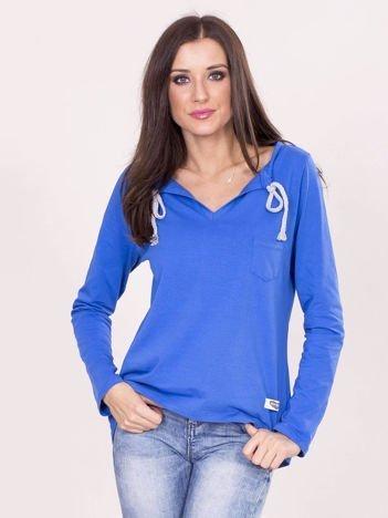 Niebieska damska bluzka