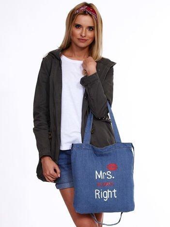 Niebieska denimowa torba MRS. ALWAYS RIGHT