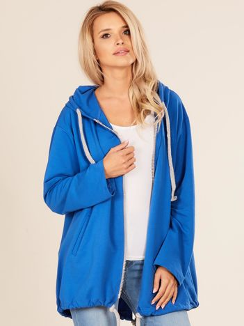 Niebieska dresowa bluza oversize