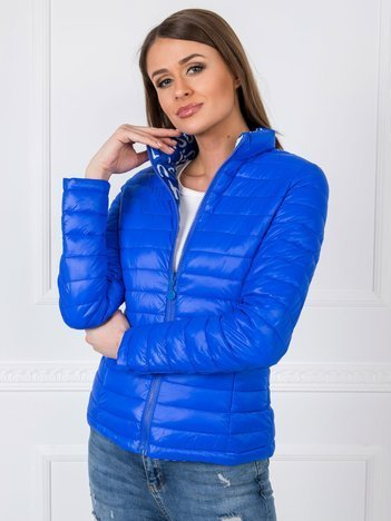 Niebieska dwustronna kurtka Margot