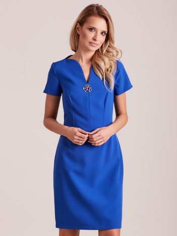 Niebieska elegancka sukienka