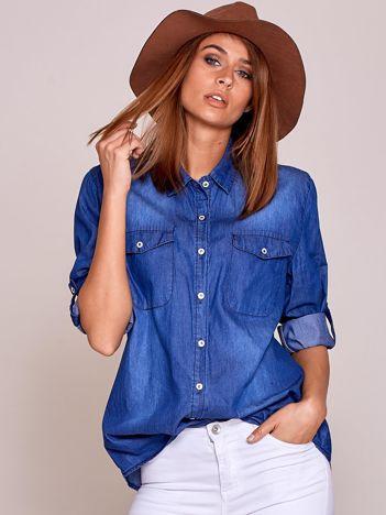 Niebieska koszula denim