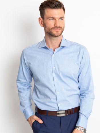 Niebieska koszula męska Leandro