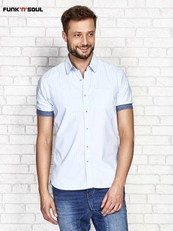 Niebieska koszula w paski FUNK N SOUL