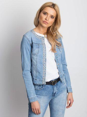 Niebieska kurtka jeansowa Off-duty