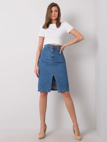 Niebieska spódnica jeansowa Rayne RUE PARIS