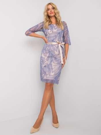 Niebieska sukienka Genoa