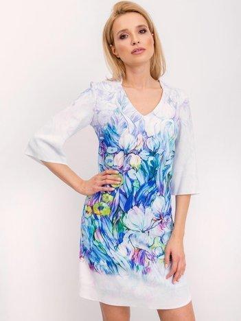 Niebieska sukienka Impression