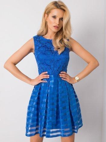 Niebieska sukienka Twinny