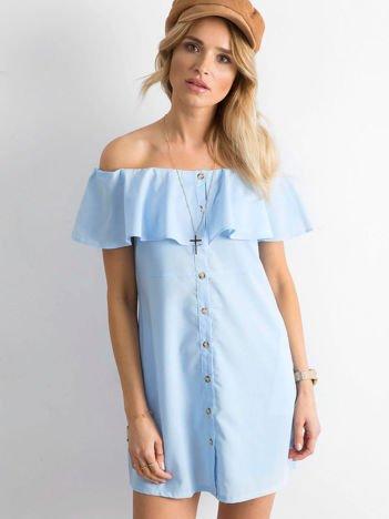 Niebieska sukienka hiszpanka