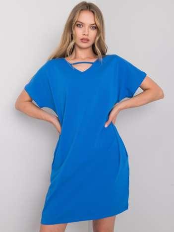 Niebieska sukienka na co dzień Rianna RUE PARIS