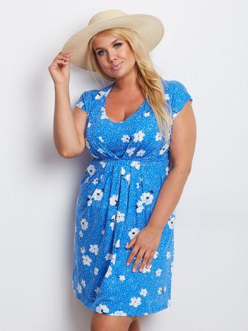 Niebieska sukienka plus size Arkansas