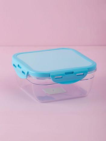 Niebieski kwadratowy pojemnik na żywność