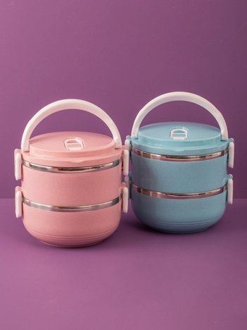 Niebieski lunch box