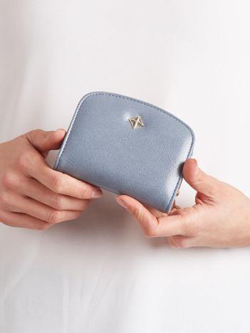 Niebieski mały portfel z portmonetką na bigiel