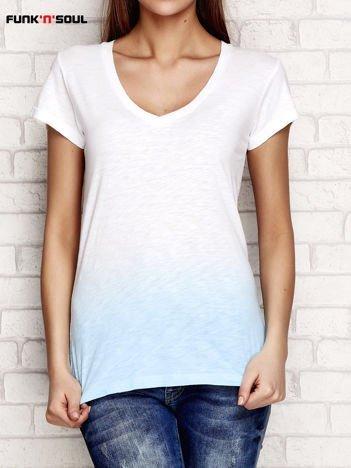 Niebieski t-shirt ombre FUNK N SOUL