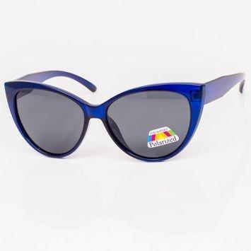 Niebieskie Damskie Okulary POLARYZACYJNE CAT EYE