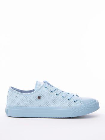 Niebieskie ażurowe tenisówki BIG STAR z gumowanym przodem