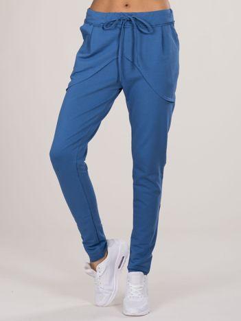 Niebieskie bawełniane spodnie dresowe