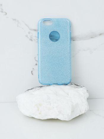 Niebieskie brokatowe etui do iPhone 6G