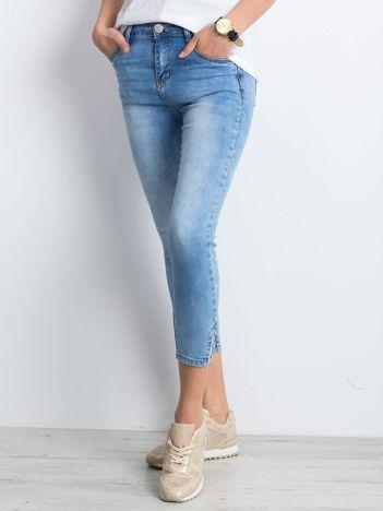 Niebieskie jeansy Overlocked