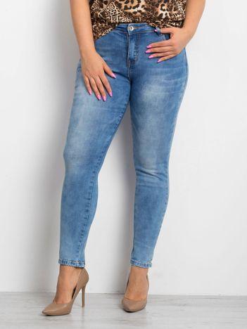 Niebieskie jeansy PLUS SIZE Pointelle