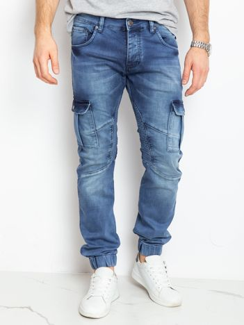 Niebieskie jeansy męskie Reggie