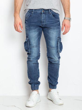 Niebieskie jeansy męskie Rusty