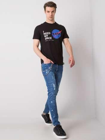 Niebieskie jeansy męskie Wilder