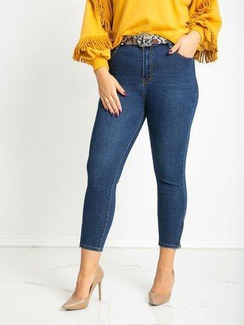 Niebieskie jeansy plus size Feeling