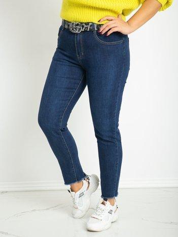 Niebieskie jeansy plus size Hidden