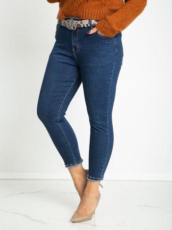 Niebieskie jeansy plus size Paloma