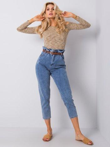 Niebieskie jeansy z paskiem Midnight