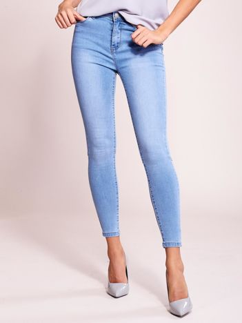 Niebieskie jeansy z suwakami