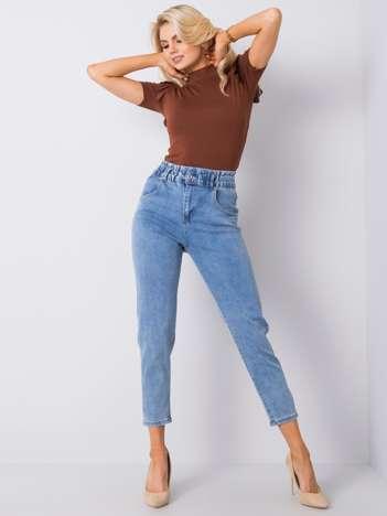Niebieskie jeansy z wysokim stanem Lucrezia