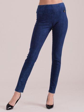 Niebieskie legginsy push up