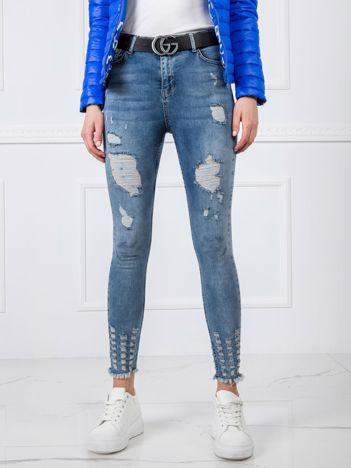 Niebieskie spodnie Jersey