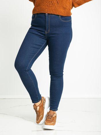 Niebieskie spodnie plus size Molly