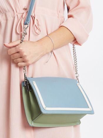 Niebiesko-miętowa mała torebka