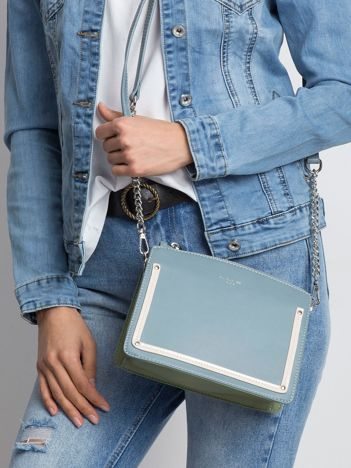 Niebiesko-zielona elegancka torebka
