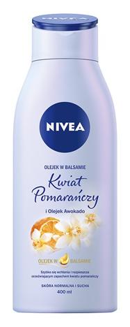 Nivea Body Olejek w balsamie nawilżający Kwiat Pomarańczy i Olejek Awokado 400 ml