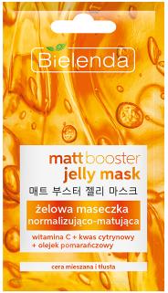 Nowość! BIELENDA MATT BOOSTER JELLY MASK MATT BOOSTER JELLY MASK Żelowa maseczka normalizująco – matująca do cery mieszanej i tłustej 8g