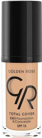 Nowość!!! GOLDEN ROSE Kryjący podkład i korektor 2 w 1 TOTAL COVER 04 30 ml