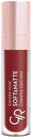 Nowość!!! GOLDEN ROSE Soft & Matte Creamy Lip Color matowa pomadka 114 5,5 ml