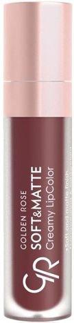 Nowość!!! GOLDEN ROSE Soft & Matte Creamy Lip Color matowa pomadka 117 5,5 ml
